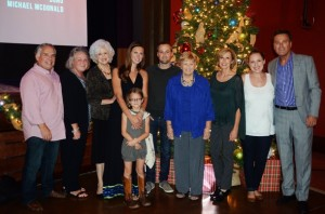 "Michael W. Smith & family at ""The Spirit of Christmas"" party at the Franklin Theatre in Franklin, Tenn."